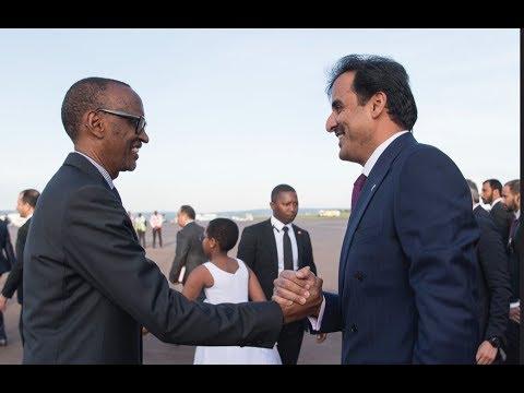 President Kagame welcomes His Highness Sheikh Tamim Bin Hamad Al Thani, the Emir of Qatar to Rwanda