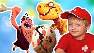 Игра про Динозавров для Детей Защищаем Яйцо от Траглодитов #26  Мультик про Динозавров Lion boy
