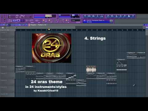 24 Oras Theme Song in 24 Instruments and Styles