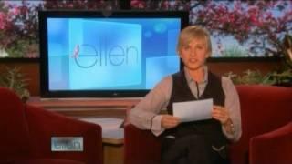 Ellen presents funny videos in her show 10/13/08