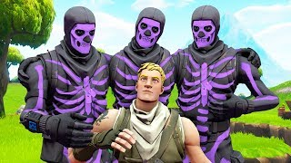 I tried out for a TOXIC Purple Skull Trooper Clan!