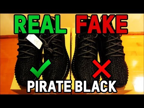 Adidas Yeezy Boost 350 Pirate Black Authentic Vs. Fake from eBay