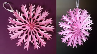 How to Make Snowflakes out of Paper | Beautiful 3D Christmas Snowflakes