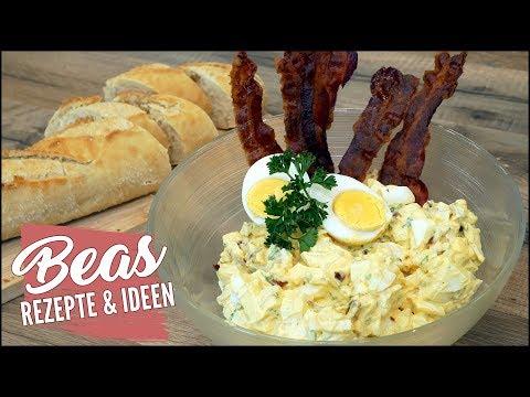 Eier Bacon Salat Rezept | Eiersalat mit Speck und Mayonnaise selber machen
