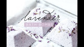 DIY RELAXING LAVENDER BATH BOMBS
