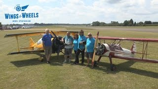 GIANT SCALE RC Stearman and Pitts fly together: Wings & Wheels Model Spectacular 2015