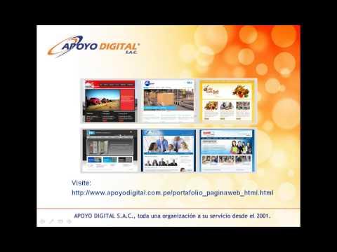 Diseño de Paginas Web Peru - Apoyo Digital SAC