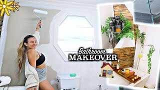 HUGE BATHROOM MAKEOVER! 48 hours painting and decorating my bathroom!