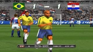 Winning Eleven 2002 World Cup รอบ 4 ทีม Brazil vs Croatia PS1