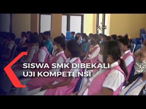 ratusan siswa smk dibekali uji kompetensi