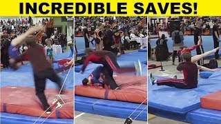 Top 12 Gymnasts Being Saved by Their Spotter - INCREDIBLE!!! - PART 1