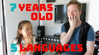 7-year-old speaks 5 languages