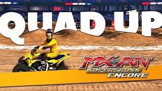 Huge Lines On The Quad!   MX Vs ATV Supercross Encore!