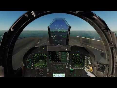 DCS F-18 Case 1 Carrier landing - смотреть онлайн на Hah Life