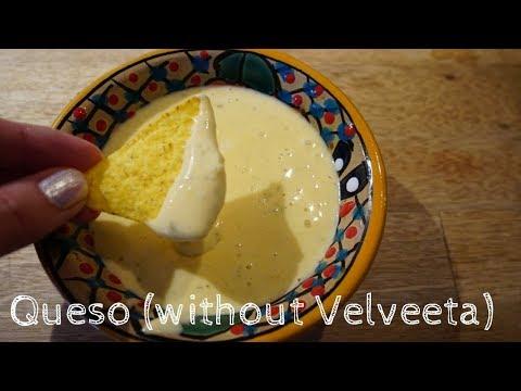 Video Creamy Queso/Cheese Dip (without velveeta)