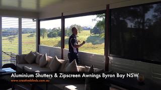 Aluminium Shutters & Zipscreen Awnings