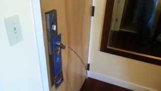 Under the door tool + improvised hotel door latch bypass