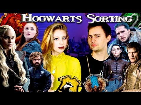SORTING GAME OF THRONES into HOGWARTS HOUSES