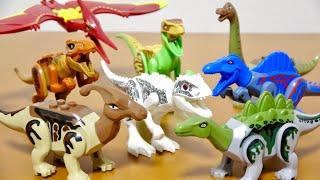 レゴっぽいAmazonで格安で買った恐竜のブロックジュラシックブロック8体Part.2組み立てました!子供向けJurassicWorldDinosaursToy