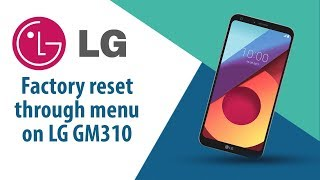 How to Factory Reset through menu on LG GM310?
