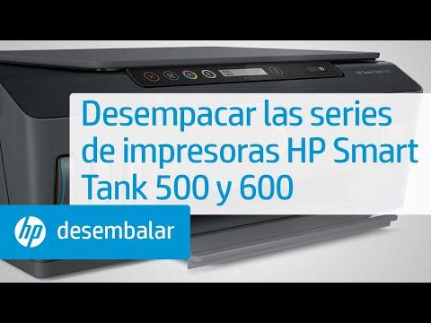 Desempacar las series de impresoras HP Smart Tank 500 y 600