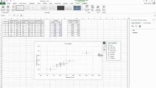 Excel 10 (Problem 16) Experimental Data Analysis, Curve Fitting, Linear Regression, Trendline.
