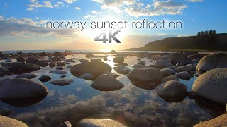 4K Norway Sunset Reflection + 528HZ Music for Deep Healing & Stress Relief- 1 HR Static Nature Scene