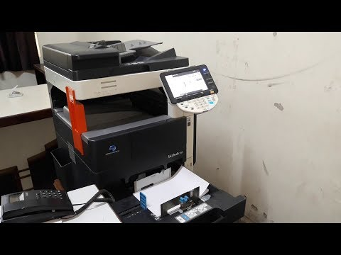 Konika minolta bizhub 363-423 printer Driver install || Toner Change || Tray Settings.