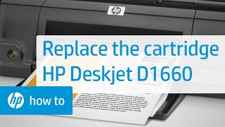 Replacing a Cartridge - HP Deskjet D1660 Printer
