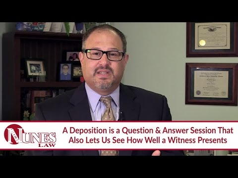 Explaining the Purposes of a Deposition in Your Case
