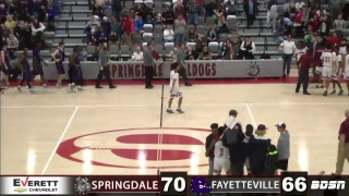 SHS Basketball   vs Fayetteville   Senior Night