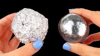 Mirror polishing aluminum foil ball - Japanese foil ball polishing challenge - Video Youtube