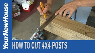 How to Cut 4X4s with a Circular Saw