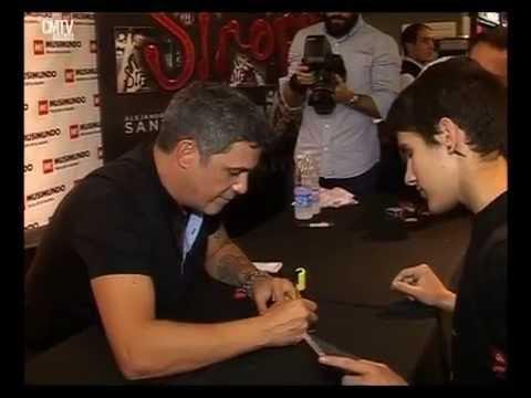 Alejandro Sanz video Firma de discos - Argentina - Mayo 2015