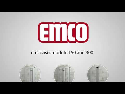 Emco asis module 150 flush-mounted WC module model, stop left, colour: aluminium/aluminium