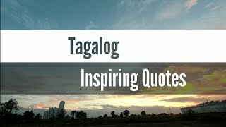 Tagalog Inspiring Quotes