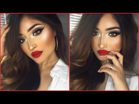 CLASSIC SMOKEY CAT EYE/RED LIP LOOK | ViiRDii