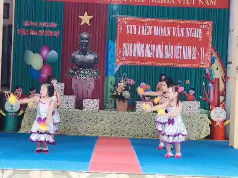Văn nghệ chào mừng ngày nhà giáo Việt nam 20/11/2020 bài Lá thuyền ước mơ - lớp 4 -5 tuổi B