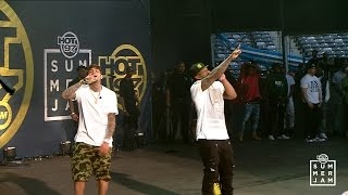 Chris Brown brings out G-Unit at Summer Jam 2015