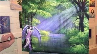 Angel Of The Lake- ACRYLIC PAINTING TUTORIAL -REAL TIME