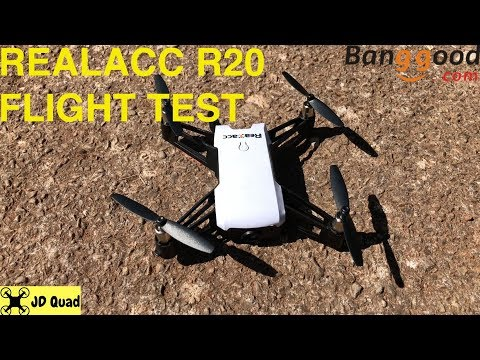 Realacc R20 Flight Test Video Part 1 - Courtesy of Banggood