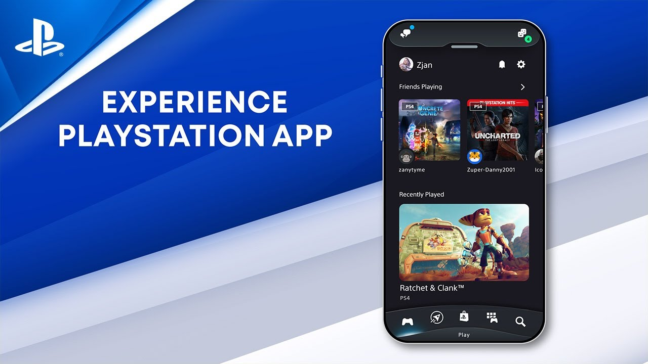 Introducing the new PlayStation App, redesigned to enhance your gaming experiences on PS4 and PS5