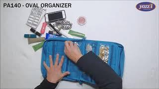 PA140 Oval Makeup & Jewelry Organizer   Yazzii Travel Bags