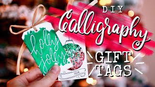 Oh, hey! Let's make some gift tags...✨ | D.I.Y. Hand Lettered Holiday Cards!