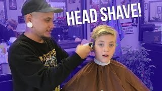ROCCO GETS HEAD SHAVED WITH SCALP TATTOO?