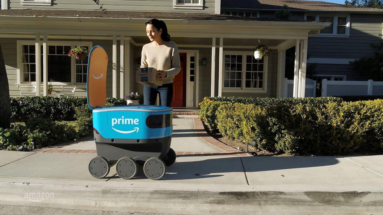 """Savaeigis šaldytuvas? Ne, tai yra naujasis autonominis """"Amazon"""" robotas"""
