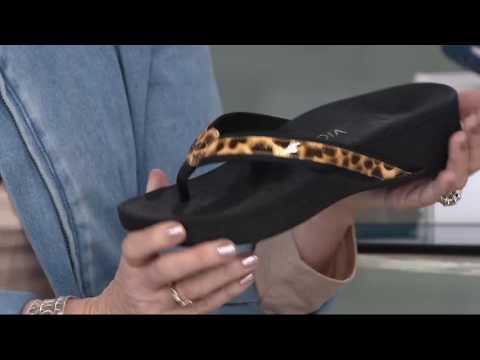 6a12dd0a1c7 Vionic Orthotic Platform Leather Sandals - High Tide on QVC