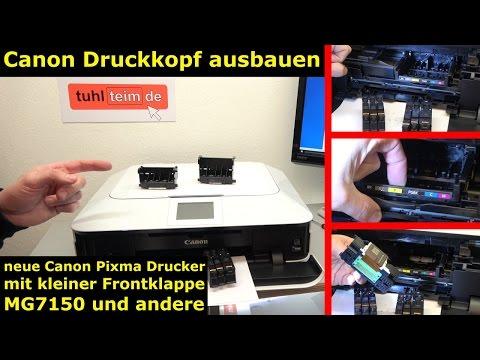 Canon Pixma Drucker Druckkopf auswechseln - [gelöst] - ausbauen / wechseln - [4K Video]