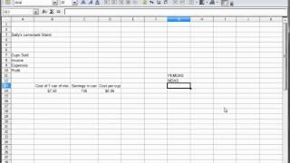6 -  LibreOffice Calc, OpenOffice Calc, Excel Tutorial --  Lemonade Stand Arithmetic