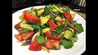 Салат с АВОКАДО. Быстрый и Вкусный  Салат для Ужина. Просто, но со вкусом, все довольны!